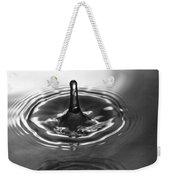 Water Splash In Black And White Weekender Tote Bag