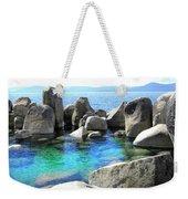 Water Stonehenge Lake Tahoe Weekender Tote Bag