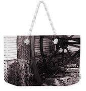 Water Wheel Old Mill Cherokee North Carolina  Weekender Tote Bag by Susanne Van Hulst