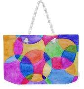 Watercolor Circles Abstract Weekender Tote Bag