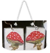 Watercolor Earrings Amanita Weekender Tote Bag