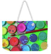 Watercolor Palette Weekender Tote Bag by Carlos Caetano