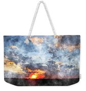 Watercolor Sunrise Weekender Tote Bag