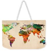 Watercolor World Map  Weekender Tote Bag