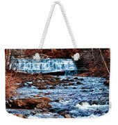Waterfall Along A Mountain Stream Weekender Tote Bag