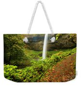 Waterfall Along The Trail Weekender Tote Bag
