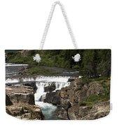 Waterfall At Many Glacier Weekender Tote Bag