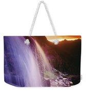 Waterfall At Sunset, Bugaboo Glacier Weekender Tote Bag