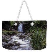Waterfall In A Forest, Glenoe Weekender Tote Bag