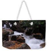 Waterfall In Fall Weekender Tote Bag