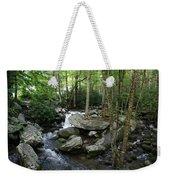 Waterfall In Stream Weekender Tote Bag