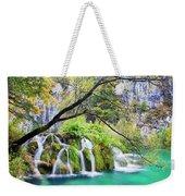 Waterfall In The Plitvice Lakes National Park Weekender Tote Bag