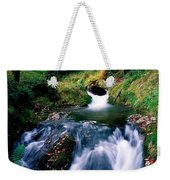 Waterfall In The Woods, Ireland Weekender Tote Bag