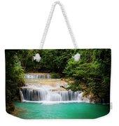 Waterfall In Tropical Forest Weekender Tote Bag
