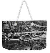 Waterfall Mono Weekender Tote Bag