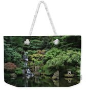 Waterfall - Portland Japanese Garden - Oregon Weekender Tote Bag