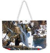 Waterfall Seasons Greeting Weekender Tote Bag