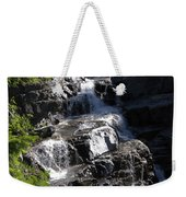 Waterfalls Along Going-to-the-sun Road Weekender Tote Bag