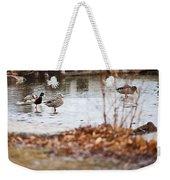 Waterfowl Calisthenics Weekender Tote Bag