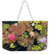 Waterlilies In A Garden Pool Weekender Tote Bag