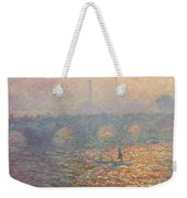 Waterloo Bridge Weekender Tote Bag by Claude Monet