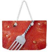 Watermelon And Fork Weekender Tote Bag