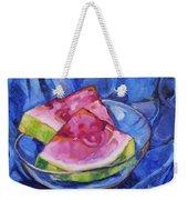 Watermelon On Blue Weekender Tote Bag