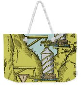 Watermill Reversed Archimedean Screw Weekender Tote Bag