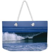 Wave Breaking Right On The Beach At 17 Weekender Tote Bag