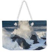 Wave Meets Seastack Weekender Tote Bag