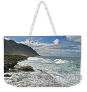Waves Breaking On Shore 7876 Weekender Tote Bag