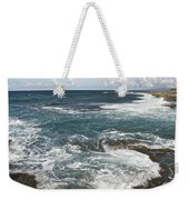 Waves Breaking On Shore  7918 Weekender Tote Bag