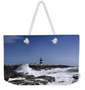 Waves Crash Against The Wexford Coast Weekender Tote Bag