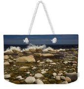 Waves Hitting Rocks, Anchor Brook Weekender Tote Bag