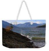Waves On The Shore Weekender Tote Bag