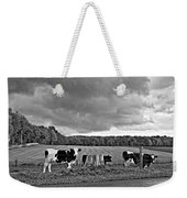 Weather Talk Monochrome Weekender Tote Bag