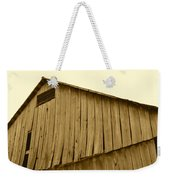 Weathered Barn II In Sepia Weekender Tote Bag