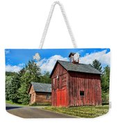 Weathered Red Barn Weekender Tote Bag