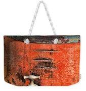 Weathered Red Oil Bucket Weekender Tote Bag