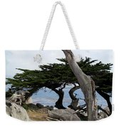 Weathered Tree On California Coast Weekender Tote Bag