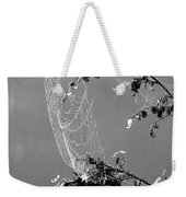 Web In The Rain B-w Weekender Tote Bag