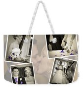 Wedding Album Page - Fine Art Weekender Tote Bag