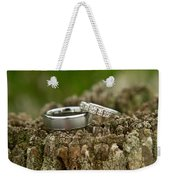 Wedding Bands And Fence Post 12 Weekender Tote Bag