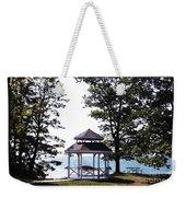Wedding Gazebo By Lake Erie At Evangola State Park Weekender Tote Bag