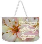 Wedding Happiness Greeting Card - Lilies Weekender Tote Bag