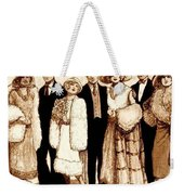 Wedding Sepia Weekender Tote Bag