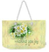 Wedding Wishing You Joy Greeting Card - Wildflower Multiflora Roses Weekender Tote Bag