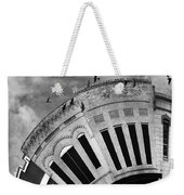 Wee Bryan Texas Detail In Black And White Weekender Tote Bag by Nikki Marie Smith