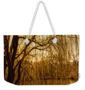 Weeping Willow And Bridge Weekender Tote Bag