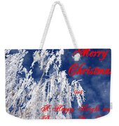 Weeping Willow Christmas Weekender Tote Bag
